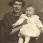 Alma (Shaw) Stanton with Velda (Stanton) Bissell 1923